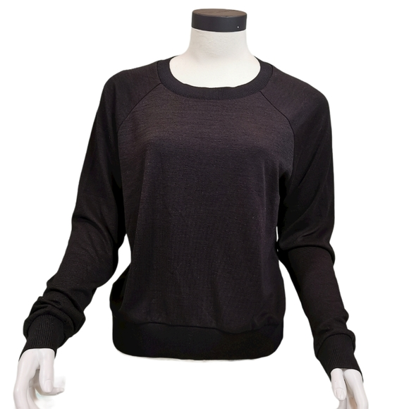 Tna Crew Neck Pullover Sweater Size Large Black